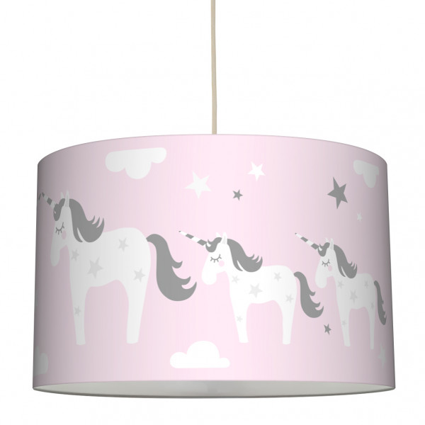 lovely label lampe hängelampe leuchte lampenschirm einhorn rosa mädchen girl babyzimmer kinderzimmer
