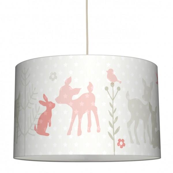 lovely label Lampenschirm Lampe Kinderzimmer Rehe & Sterne Junge/Mädchen Beige/Apricot.