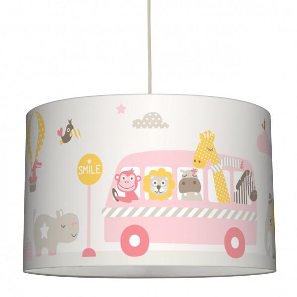 lovely label Lampenschirm/Hängelampe Kinderzimmer/Baby Junge/Mädchen Tiere Rosa/Beige/Gelb