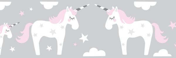 lovely label lampe bordüre borte wanddek einhörner kinderzimmer babyzimmer baby kind mädchen rosa